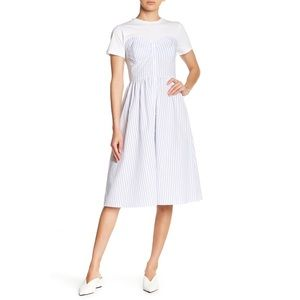 English Factory Striped Twofer Dress S